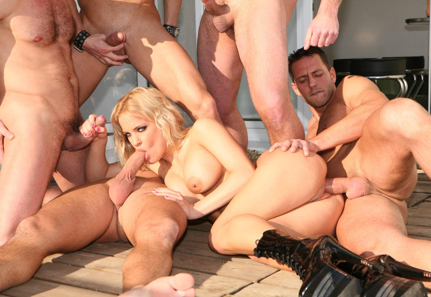 Two busty sluts gang bang 8